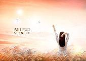 백그라운드, 가을, 계절, 풍경, 자연
