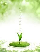 봄, 그리너리, 시작, 초록