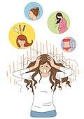 탈모, 스트레스, 질병