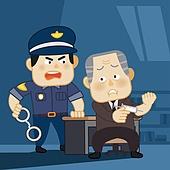 범죄, 치안, 체포, 처벌, 경고