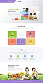 Education web template