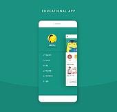 모바일템플릿, 유저인터페이스, 어플리케이션, 템플릿, 휴대폰