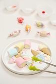 오브젝트,접시,달콤한음식,사탕,나누기,공유,주방집게