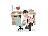 비즈니스, 회사원, 질병, 스트레스