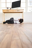 A man under the desk