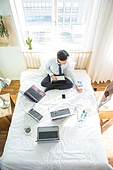 A man working at home