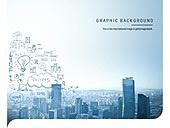 백그라운드, 도시, 비즈니스, 빌딩