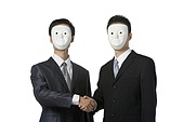 Businessmen with mask