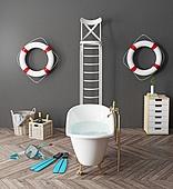 bizarre bathroom
