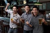 Friends Watching Sports at a Bar