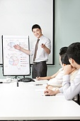 Business Executive Presenting to Business Team