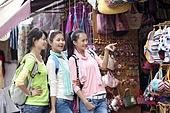 Young women enjoying shopping