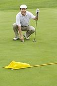 Portrait of a male Golfer on Green