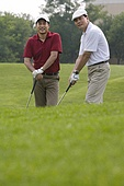 Two Golfers on the Course