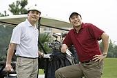 Portrait of Two Golfers