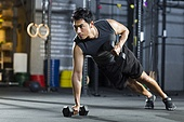 Young man practicing crossfit