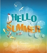 Say Hello to Summer, creative graphic message design.