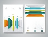 Vector brochure design with 3d elements.