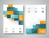 Bbrochure template design with 3d elements.