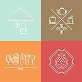 Vector linear catering icons