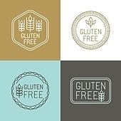 Vector gluten free badges