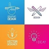 Vector set of logo design elements