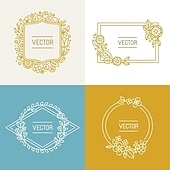 Vector floral frame with copy space for text