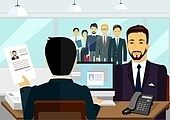 Concept of Hiring Recruiting Interview