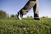 Close-Up of golfer's feet