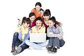 Young women shopping online