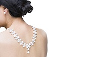 Mature woman wearing diamond jewelry