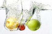 Fruit Splashing in Water
