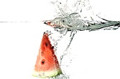 Watermelon Splashing in Water