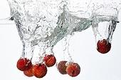 Lychee Splashing into Water