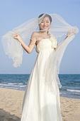 Portrait of happy bride
