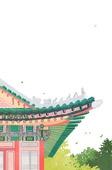 수채화, 한옥, 한국전통