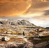 hike in Norway mountains