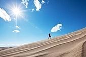 Hike in Gobi desert