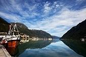 Odda harbor in Norway
