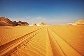 road in White desert,Egypt