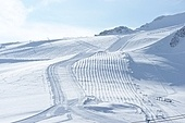 Mountains with snow in winter, Val-d'Isere, Alps, France