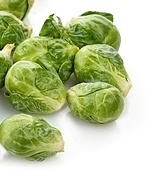 Brussels Sprouts On White Background