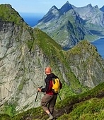 hike in Lofoten,Norway