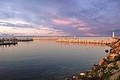 Sunset on marina