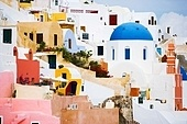 architecture details in Oia, Santorini, Greece