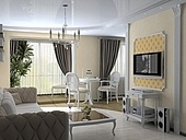 modern interior in classic style (3D rendering)