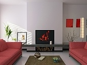 modern interior ( 3d rendering )