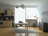 modern kitchen interior (computer generated image)