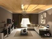 reverse  interior design (private apartment 3d rendering)