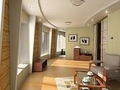design of the modern hotel interior (3D rendering)
